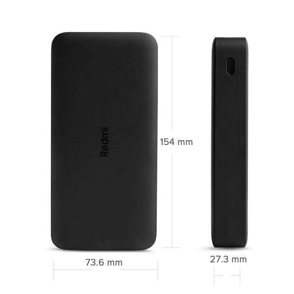 Prijenosna baterija Xiaomi 20000mAh RedMi 18W Fast Charge Power Bank (Black)