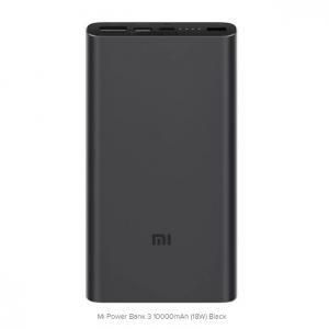 Prijenosna baterija Xiaomi 10000mAh Mi 18W Fast Charge Power Bank 3 (Black)