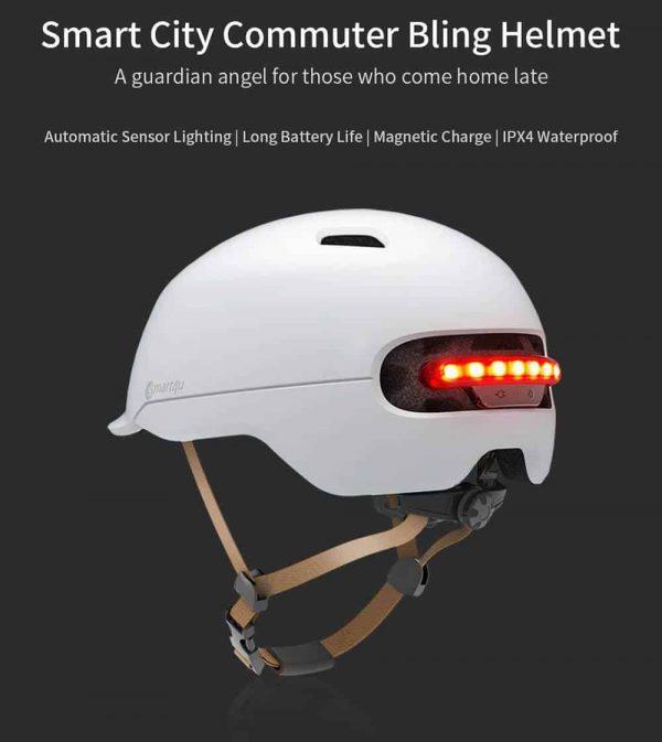 Zaštitna kaciga Xiaomi Smart4u City riding smart flash helmet (L) White