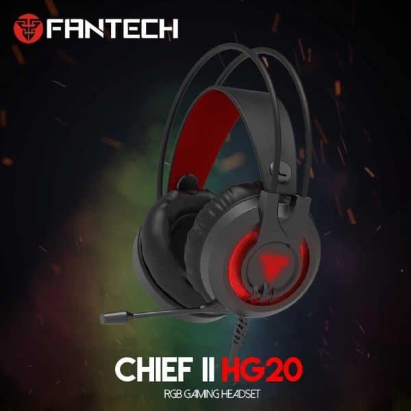 SLUŠALICE ŽIČNE GAMING FANTECH 2*3.5 mm + USB + MIKROFON CHEF II HG20